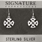 Sterling Silver Celtic Knot Filigree Cross Dangle Earring