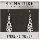 Sterling Silver Celtic Knot Tear Drop Dangle Earring