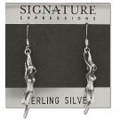 Sterling Silver Exotic Wispy Genie Rising Dangle Earrings