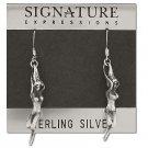 Sterling Silver Exotic Wispy Genie Rising Dangle Earrings