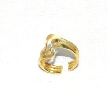 Body Art - Ear Clip - Sterling Silver Vermeil Gold Overlay Ear Cuff