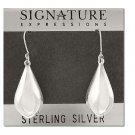 Sterling Silver Puffed Teardrops Dangle Earrings