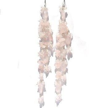 Sterling Silver Rainbow Moonstone Long Dangle Earrings
