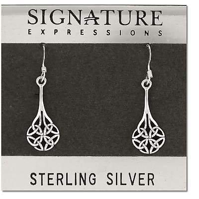 Sterling Silver Celtic Filigree Dangle Earring