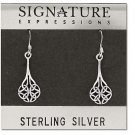 Sterling Silver Celtic Filigree Dangle Earring