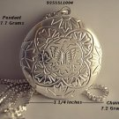 Sterling Silver Butterfly Flower Locket Necklace