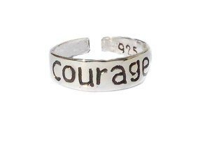 925 Sterling Silver Toe Ring Courage