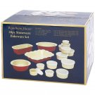 28pc Red & Creme Colored Stoneware Bakeware Set