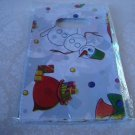 50 Christmas Themed Plastic Gift Bags