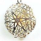 925 Sterling Silver Fashion Starburst Locket Necklace
