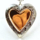 Sterling Silver High Polish Heart Locket Necklace