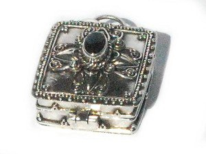 925 Sterling Silver Fashion Black Onyx Square Pendant