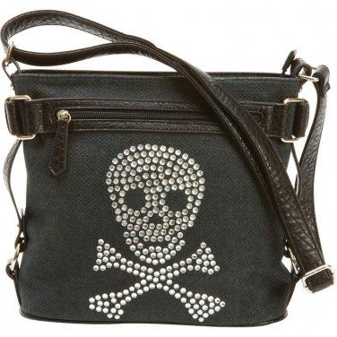 Handbag with Rhinestone Skull