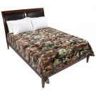 "Camouflage Print Soft Plush Luxury Blanket Queen or King Size Bed 72"" x 91"""