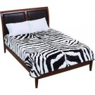 "Zebra Print Soft Plush Luxury Blanket Queen or King Size Bed 79"" x 91"