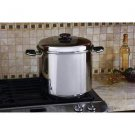 "Precise Heat™ 24qt 12-Element ""Waterless"" Stockpot with Steamer Basket"