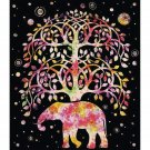 Tree of Life Asian Elephant Luxury Blanket Bedding Wall Tapestry Art