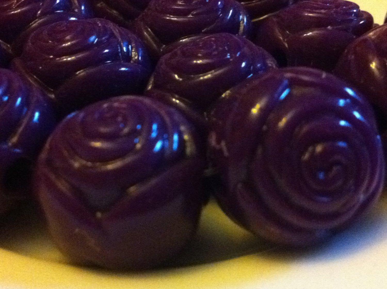 Acrylic Purple Rose Beads