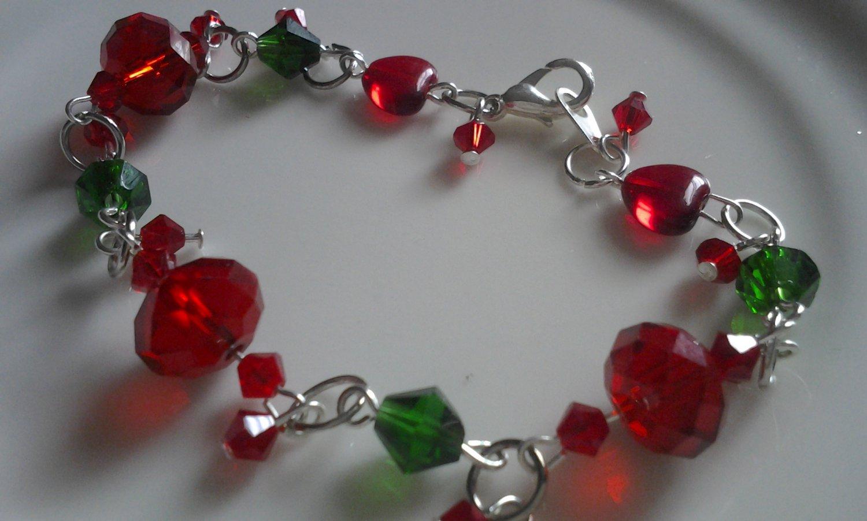 I Love You Cherry Much Swarovski Crystal Handmade Bracelet