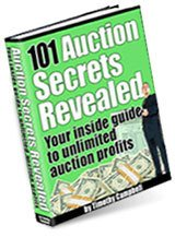 101 EBAY auction secrets revealed ebook + resell rights