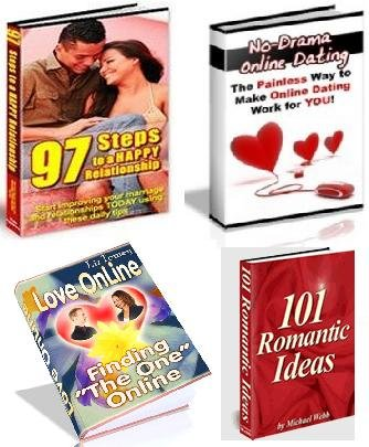 DATING, LOVE & ROMANCE 4 EBOOKS PACKAGE + RESELL RIGHTS