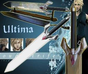 Cloud Strife's Ultima Buster Weapon Sword - Final Fantasy
