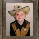 12 X 16 Narrow Western Picture Rustic Frame with Plexiglas