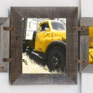 Mixed Barnwood Collage Frame for (2) 5 X 7s and (1) 8 X 10