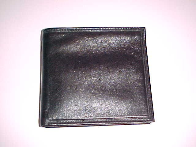 Men's Black Genuine Leather Bi-Fold Wallet