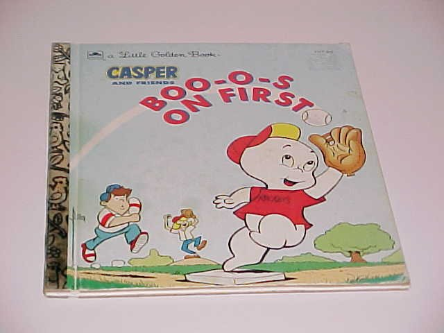 (SOLD) Casper And Friends Boo-o-s On First by Stephanie St. Pierre (1992, Hardcover, Golden Books)