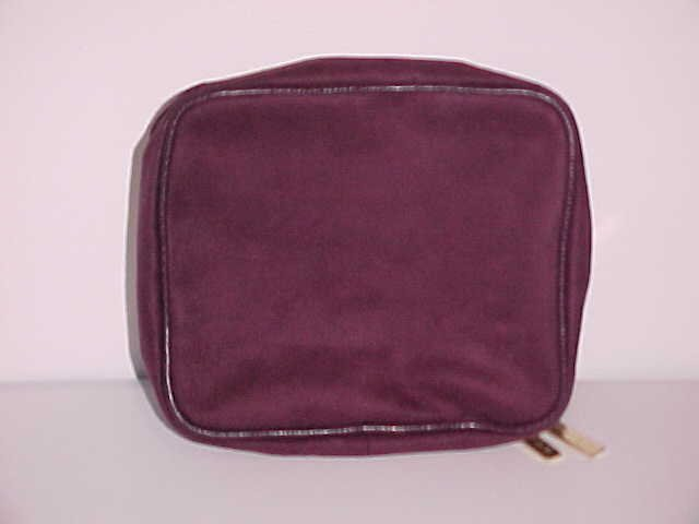 (SOLD) Burgundy Estee Lauder 2 in 1 Cosmetic Bag