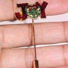 Gold Plated Vintage Christmas Joy Stick Pin