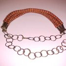 Vintage Sexy Exotic Boho Bohemian Wooden Belt (Rust Color) Size XS-S-M