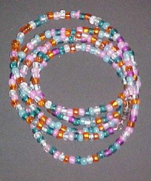 Multi Colored Pastel Necklace Wrap Bracelet 34 inches