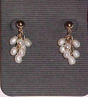 Lauren Conrad Genuine Freshwater White Pearl Dangle Earrings