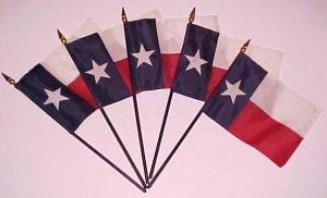 Mini Texas Flags 4X6 Lot of 5