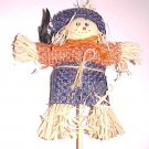 Scarecrow and Crow on a Stick 8 3/4 inches