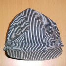 Vintage Blue and White Striped Railroad Cap Hat (Child)