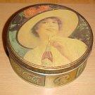 Vintage Retro 1984 Bristol Ware Coca Cola Victorian Lady Round Tin 7 inches