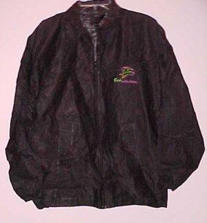 Vintage Salem Cigarette Black PVC Windbreaker Jacket Never Worn