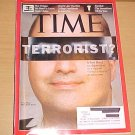 Time Magazine November 23 2009 Major Nidal Malik Hasan