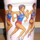 Vintage 1988 Summer Olympics US Track & Field Team Plastic Tumbler Cup