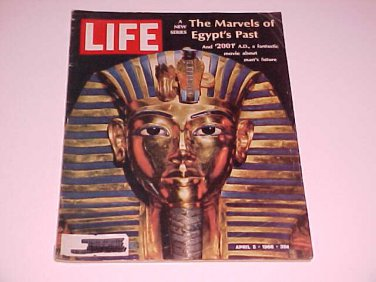 Vintage LIFE Magazine April 5, 1968 Marvels of Egypt's Past / 2001 Space Odyssey