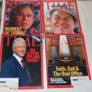 Lot of 11 TIME Magazines 1990s & 2000s Bush/Clinton/Reagan + MORE