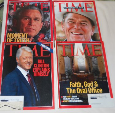 Lot of 11 TIME Magazines 1990s & 2000s Bush/Clinton/Reagan + MORE