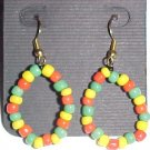 Rasta Hoop Beaded Earrings by Island Junkee