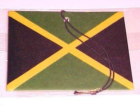 (SOLD 2.99) Jamaican Flag Car Air Freshener-Strawberry