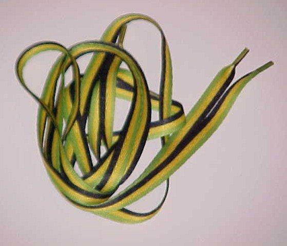 (SOLD) Rasta Shoelaces Jamaican Flag Colors (1 pair)