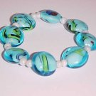 Glass Turquoise Stretch Bracelet by Island Junkee