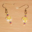 Colombian Sun Millefiori Dangle Earrings by Island Junkee